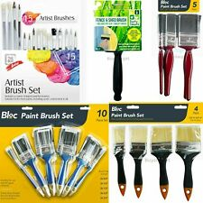 "🔥Quality Large Set 4"" to 0.5"" Wide Painting Paint Brush Fine Decorating Brushes"