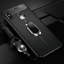 Silicone Leather cover Magnetic Car Holder Case for iPhone X XS Max 7 8 Plus 6S+
