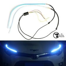 Car Headlight Dual Color Sidewinder LED Eyebrow Headlight Strips Switchback LED
