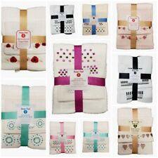 Embroidered Towel Bale Set 100% Pure Cotton 4 PCs Face Hand and Bath Towel Set