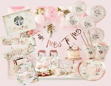 Team Bride To Be Hen Party Accessories Rose Gold Decorations Vintage Floral