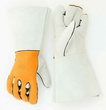 Riparo Leather Work Gloves Stretchable Ergonomic Cowhide Safety Working Gloves