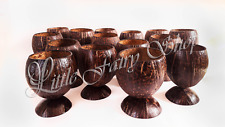 Natural coconut shell cup bowl