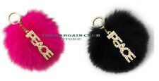 Michael Kors Women's Pom Pom Charm Key Chain Charm Key Chain Peace FOX Fur