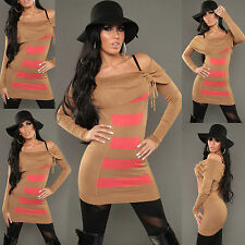 WOMEN JUMPER MINI DRESS TOP LADIES CLUBBING PARTY SEXY SWEATER SIZE 8 10 12 14