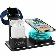 COBIA Wireless QI Desktop Charging Dock for Iphone, Apple Watch and Airpods 2019