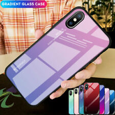 Slim Gradient Tempered Glass Case Cover for iPhone XS Max XR X 6s 7 8 Plus Skin