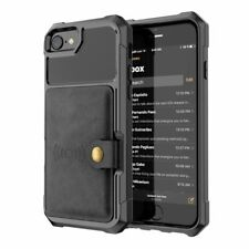 PU Leather Case For iPhone 6s 7 8 Plus X XS MAX XR Luxury Wallet Flip Back Cover