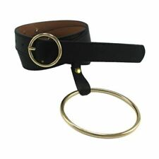 Women And Men New Fashion Round Shape Gold And Silver Buckle Belt