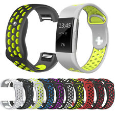 Replacement Silicone Soft Sport Band Bracelet Strap For Fitbit Charge 2/2 HR