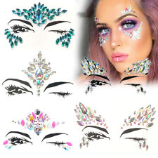 Face Gems Adhesive Glitter Jewel Tattoo Body Make Up Music Festival Rave Party