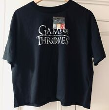 HBO GAME OF THRONES LOGO Cropped T-Shirt UK Size 4-20