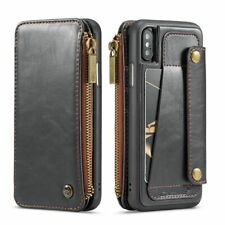 Flip Leather Wallet Case For iPhone X XR XS Max 6 6S 7 8 Cover Card Slot Holder