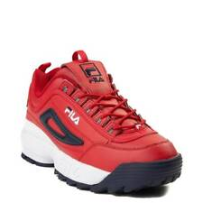 NEW Mens Fila Disruptor II Premium Athletic Shoe Red Navy 2
