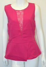 Brand New Ladies Rant & Rave Cerise Pink Ivy Peplum Top