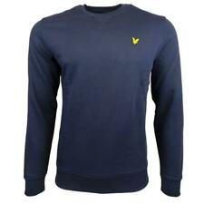 Lyle And Scott Mens Vintage Crew Neck Washed Sweatshirt - Navy Blue
