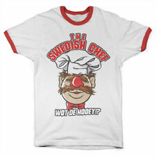 Official Licensed The Muppets - The Swedish Chef Ringer T-shirt