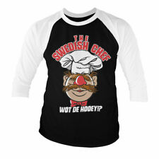 Official Licensed The Muppets - The Swedish Chef Baseball 3/4 Sleeve T-Shirt