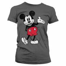 Officially Licensed Mickey Mouse Distressed Women T-Shirt S-XXL Sizes