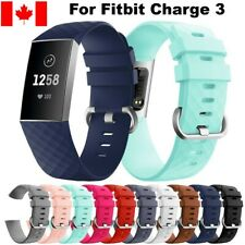 For Fitbit Charge 3 Band Replacement Silicone Wrist Strap Smart Watch Band S & L