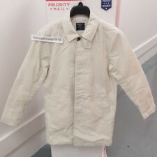 ABERCROMBIE & FITCH MENS TRENCH COAT JACKET CREAM SIZE 36
