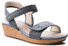 dc3d48dff9 Clarks HARPY MYTH Girls Denim Blue Leather Sandals 13 - 5 F LARGER SIZES  BNIB