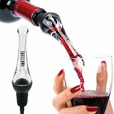 Wine Aerator Pourer Premium Aerating Pourer and Decanter Spout (Black)