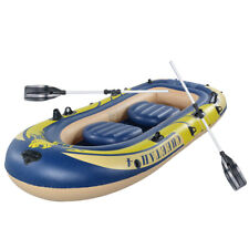 3-4 Person Excursion Inflatable Boat Set Raft Dinghy with 2*Oars & Pump Pro USA