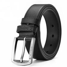 Men Belt Classic Vintage Pin Cow Genuine Leather Luxury Strap Buckle Fashions