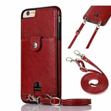 Back Case Vintage Pu Leather Strap Card Wallet iPhone 6 6S 7 8 Plus Xs Max XR X