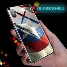 Marvel / DC Superhero Tempered Glass Apple iPhone Case -6 7 8 X XS XR 11 Plus S