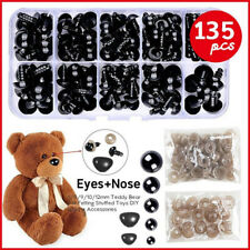 135pcs Black Plastic DIY Safety Durable Eyes Nose Washer for Teddy Bear Dolls