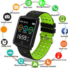 Waterproof Smart Watch Heart Rate Monitor Bracelet Wristband for iOS Android SD
