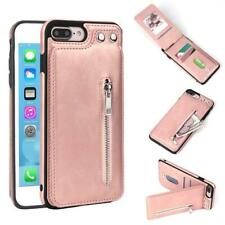 Phone Cover Zipper Leather Card Holder Wallet iPhone XS Max XR X 8 7 5S 6S Plus