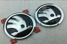 Car Logo Chrome 80mm&90mm Front Rear Hood Trunk Badge Emblem Fit For SKODA