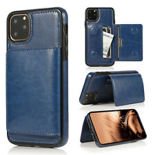 For iphone 11 Pro Max XS MAX XR X 8 Card Pocket Leather Flip Wallet Holder Case