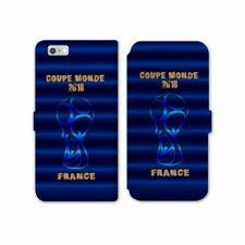 RV Housse cuir portefeuille Iphone 7 Plus coupe monde football 2018