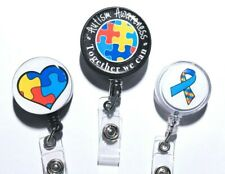 Autism Awareness Badge Reel ID Holder or Stethoscope Tag