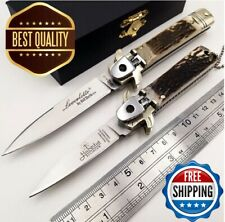 Folding Pocket Survival Knife Edc Tactical Open Blade Handle Camping Knives New