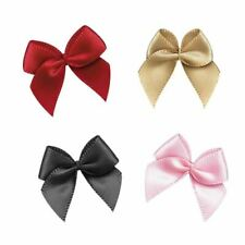 50Pcs Hand Satin Ribbon Bows Craft Wedding Party Decor Gift Packing Bowknots Sew