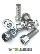 M4, M5, M6, M8, M10 SOCKET CAP SCREW A2 STAINLESS STEEL C/W WASHERS & NYLOCS