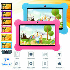 KOCASO 7'' Quad Core Android Tablet PC HD WiFi Webcam 8GB Dual Cam for Kids Gift