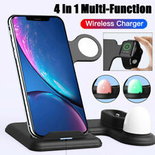 4 in 1 Qi Wireless Fast Charger Stand For Apple Watch Airpods Pro iPhone 11 Pro