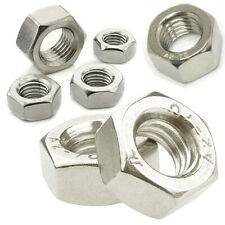 HEXAGON NUT M2 M2.5 M3 M4 M5 M6 M7 M8 M10 M12 M14 A2 STAINLESS STEEL (DIN 934)