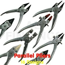 Heavy Duty Parallel Action Half Round Concave Nose Pliers Jewellery Crafts Wires
