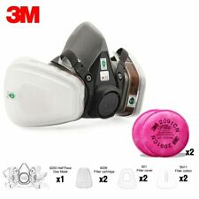 19in1 3M 6200 Half Gas Painting Spray Mask Respirator With 6001/2091/5N11 2pcs
