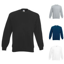 HERREN MANN SWEATSHIRT SET-IN SWEAT PULLI PULLOVER FRUIT OF THE LOOM 3XL XXL