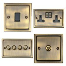 G&H Trimline Plate Antique Bronze Light Switches & Dimmers & Plug Sockets