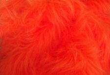 LONG Pile Fun Faux Fur Fabric Material - BRIGHT ORANGE