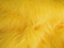 LONG Pile Fun Faux Fur Fabric Material - YELLOW